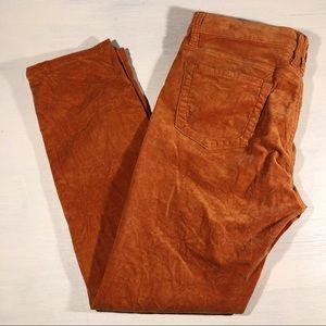 Kut from the Kloth orange corduroy Diana skinny